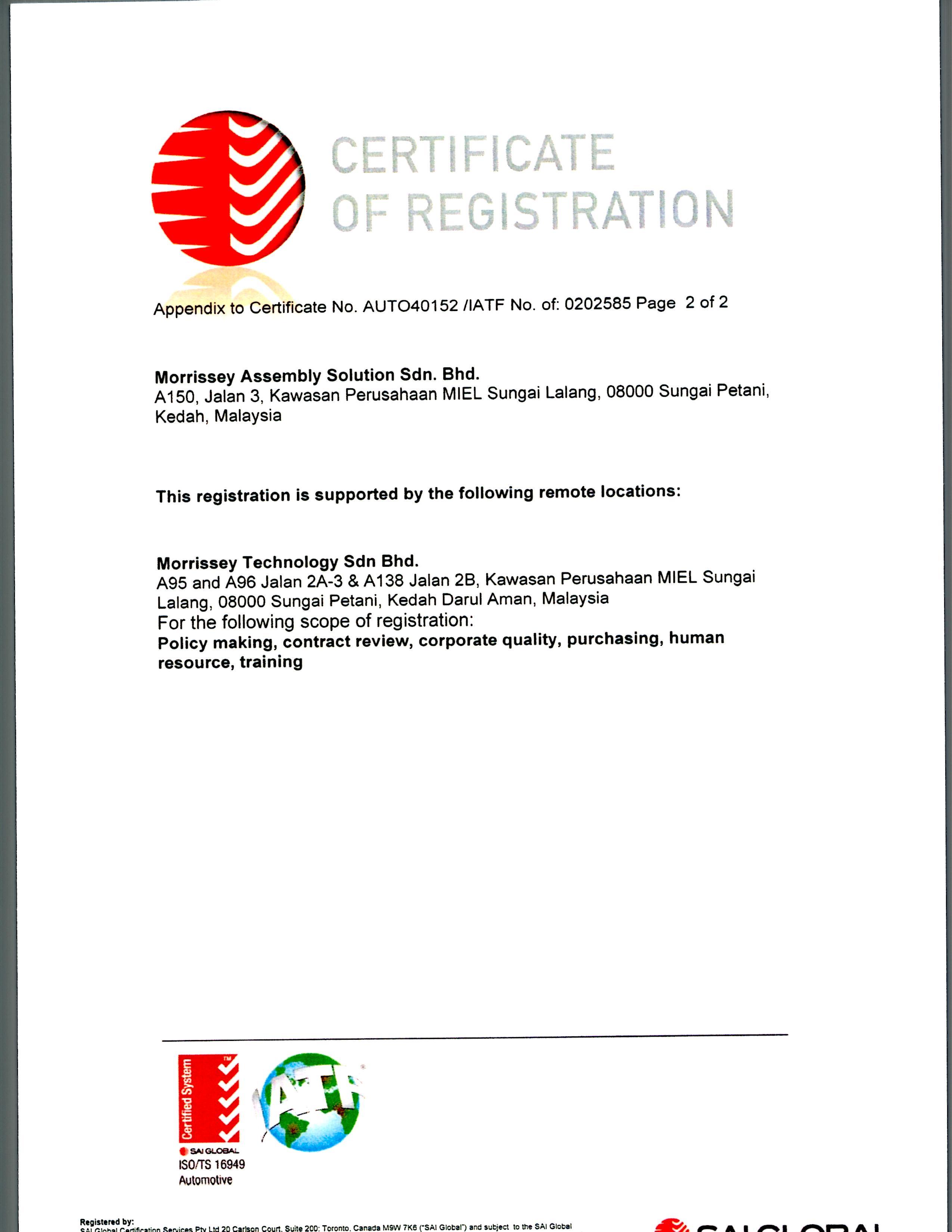 TS 16949 (MAS) page 2 of 2
